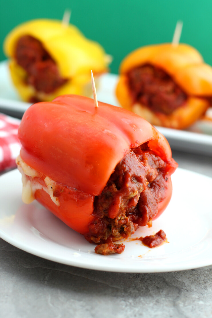 Make dinner fun with these Bell Pepper Meatball Subs - a delicious low carb meal!