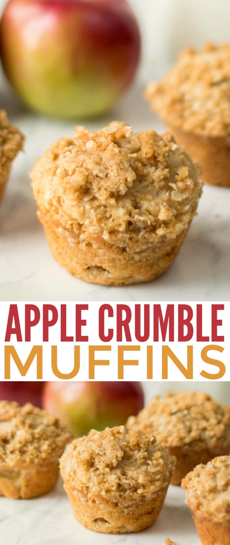 These Apple Crumble Muffins bring all the flavours of everyones favourite fall dessert right to the breakfast table.