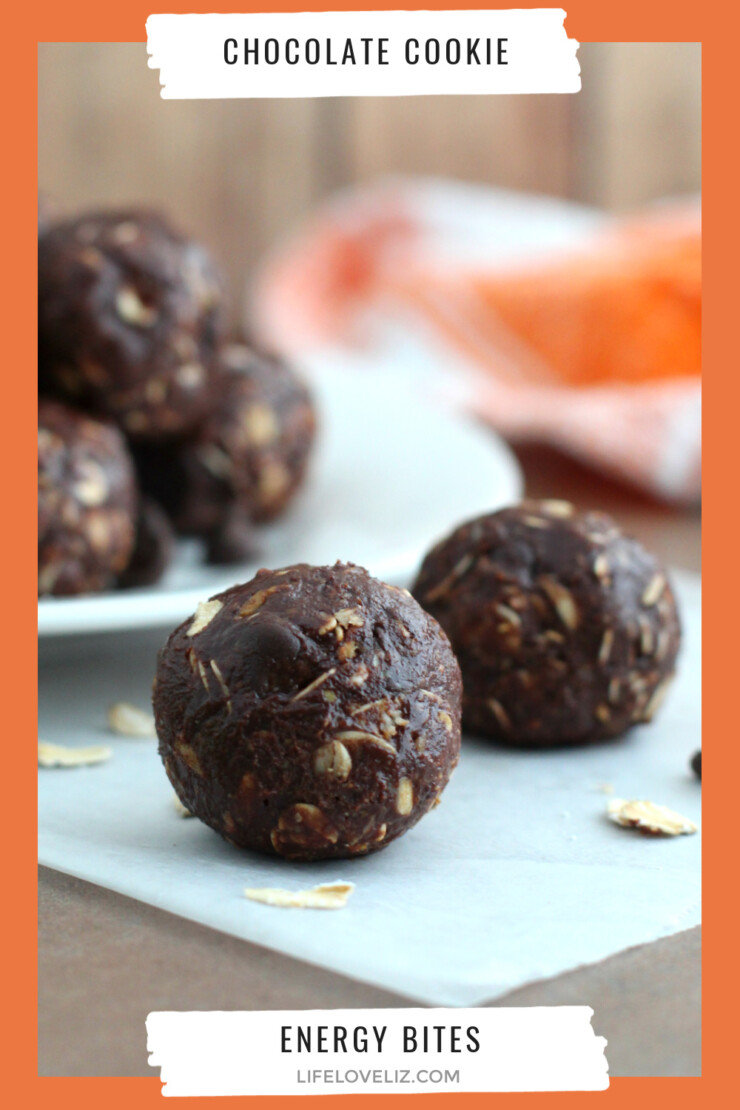 These chocolate cookie energy bites provide a great little boost when you need it in the form of one delicious bite.