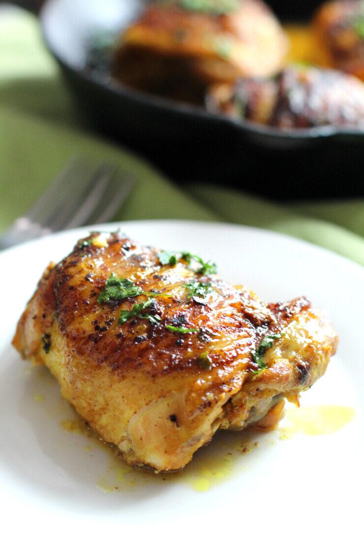 Turmeric Lemon Skillet Chicken