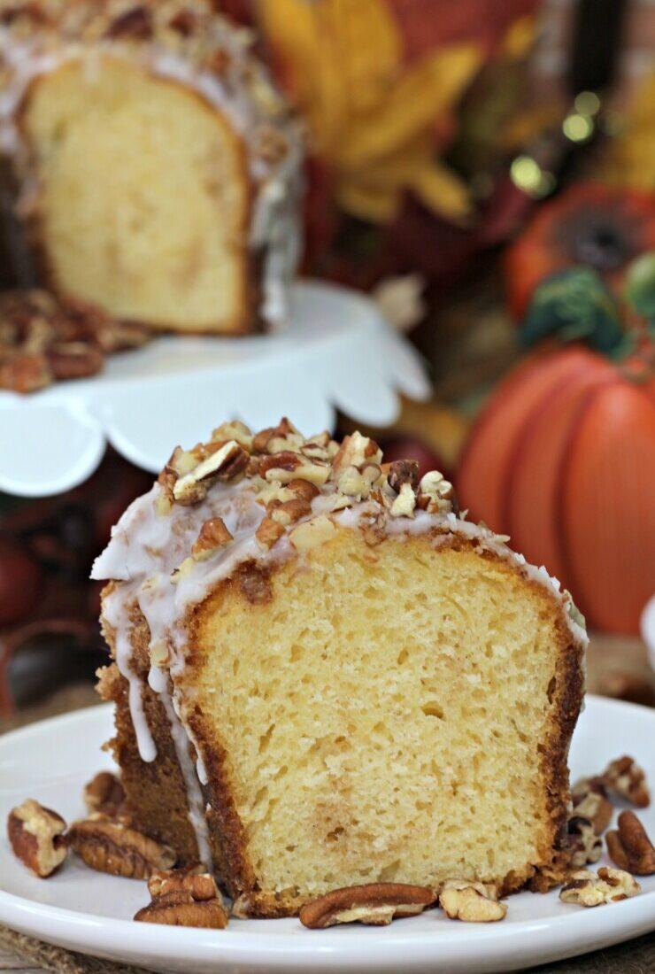Pumpkin Spice Bourbon Bundt Cake