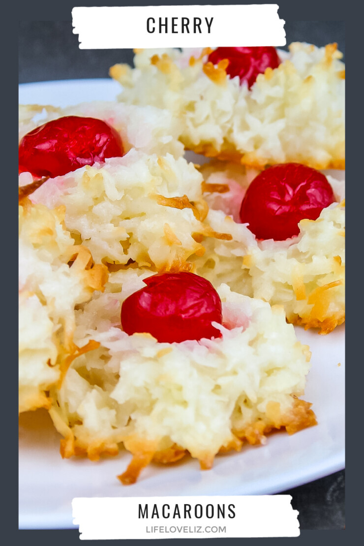 Cherry Macaroons are one of my all time favourite Christmas cookies. Classic coconut macaroons are topped off with a cherry for real old-world charm.