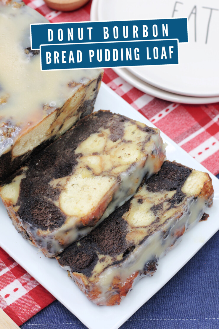 Donuts are amazing all on their own, but just wait until you use them to make my Donut Bourbon Bread Pudding Loaf.