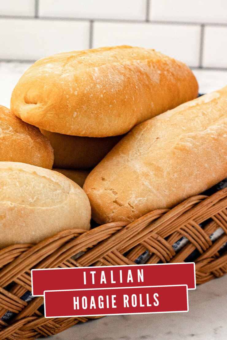 Crisp on the outside, soft and a little chewy inside, these Italian Hoagie Rolls are the perfect vehicle for delicious fillings.