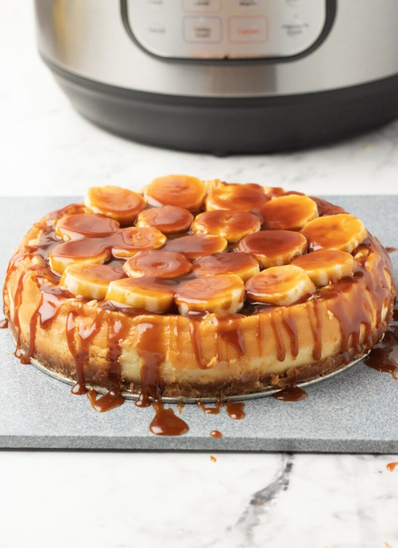 Instant Pot Bananas Foster Cheesecake