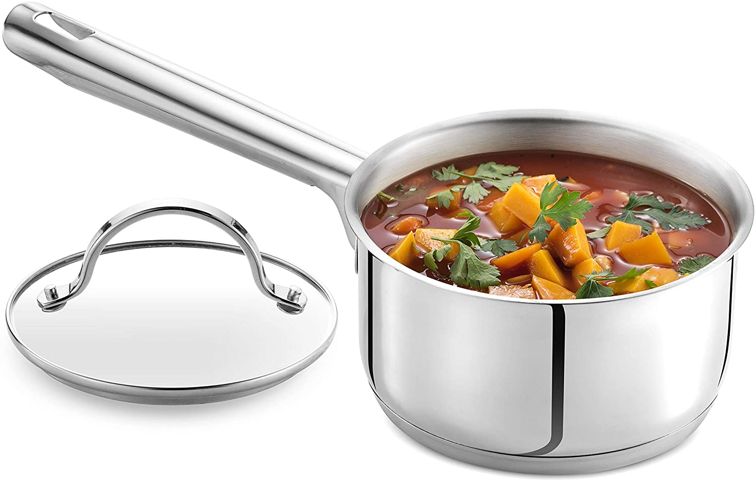 Stainless Steel Pot with Glass Cookware Lid
