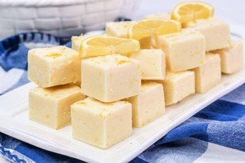 This Easy Lemon Fudge Recipe is a simple and super quick lemon dessert; this quick fudge is bursting with fresh and zesty lemon flavour.