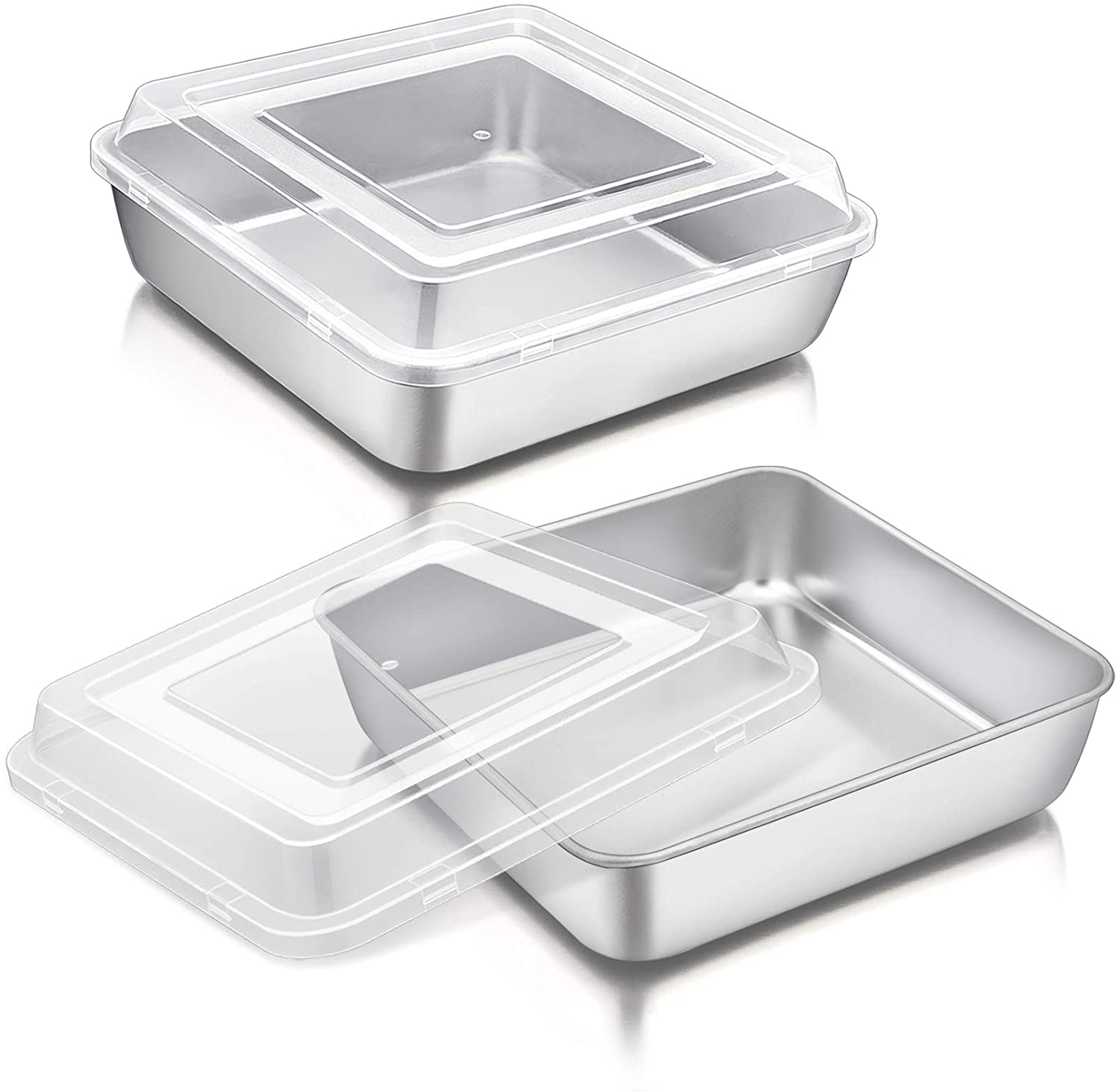 8 Inch Square Cake Pan with Lid