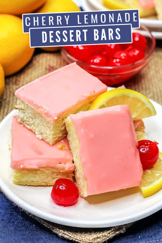 This easy Cherry Lemonade Bars recipe results in a sweet but tart bar smothered in a cherry flavoured glaze. A new favourite dessert bar!