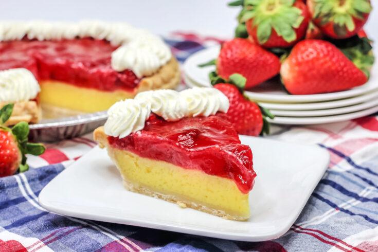 Strawberry Lemon Chess Pie