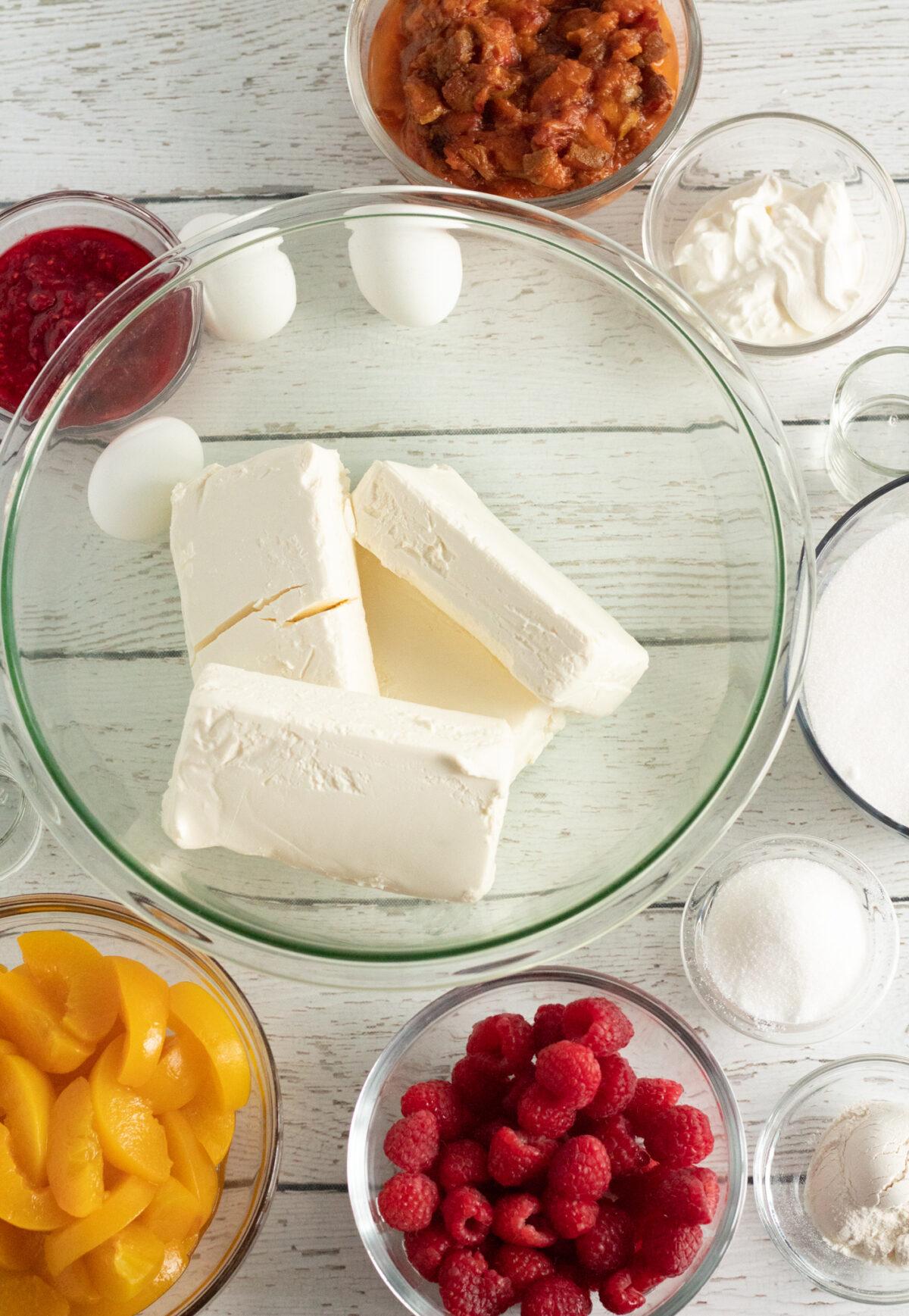 Peach Melba Cheesecake Filling Ingredients