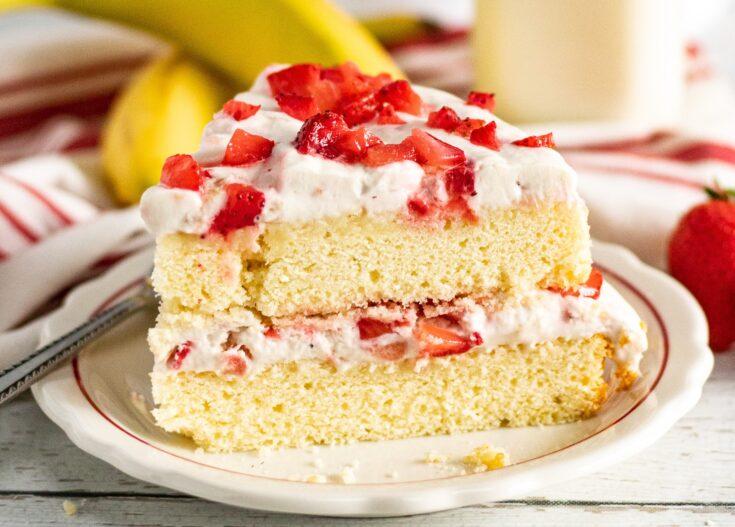 Strawberry Banana Layer Cake