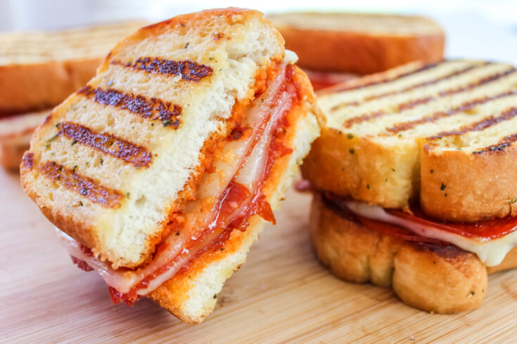 Grilled Pepperoni Pizza Sandwich