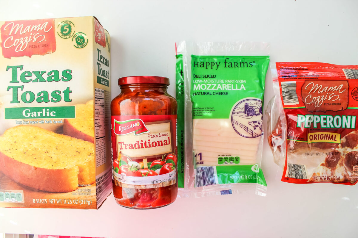 ingredients for pepporini pizza sandwiches