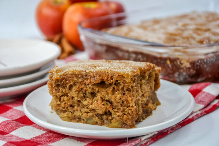 Cinnamon Apple Cake with Sugar Crust
