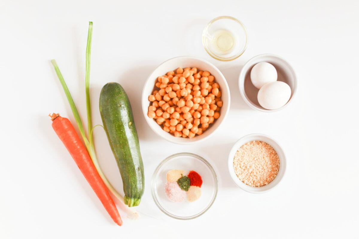 Ingredients for veggie nuggets