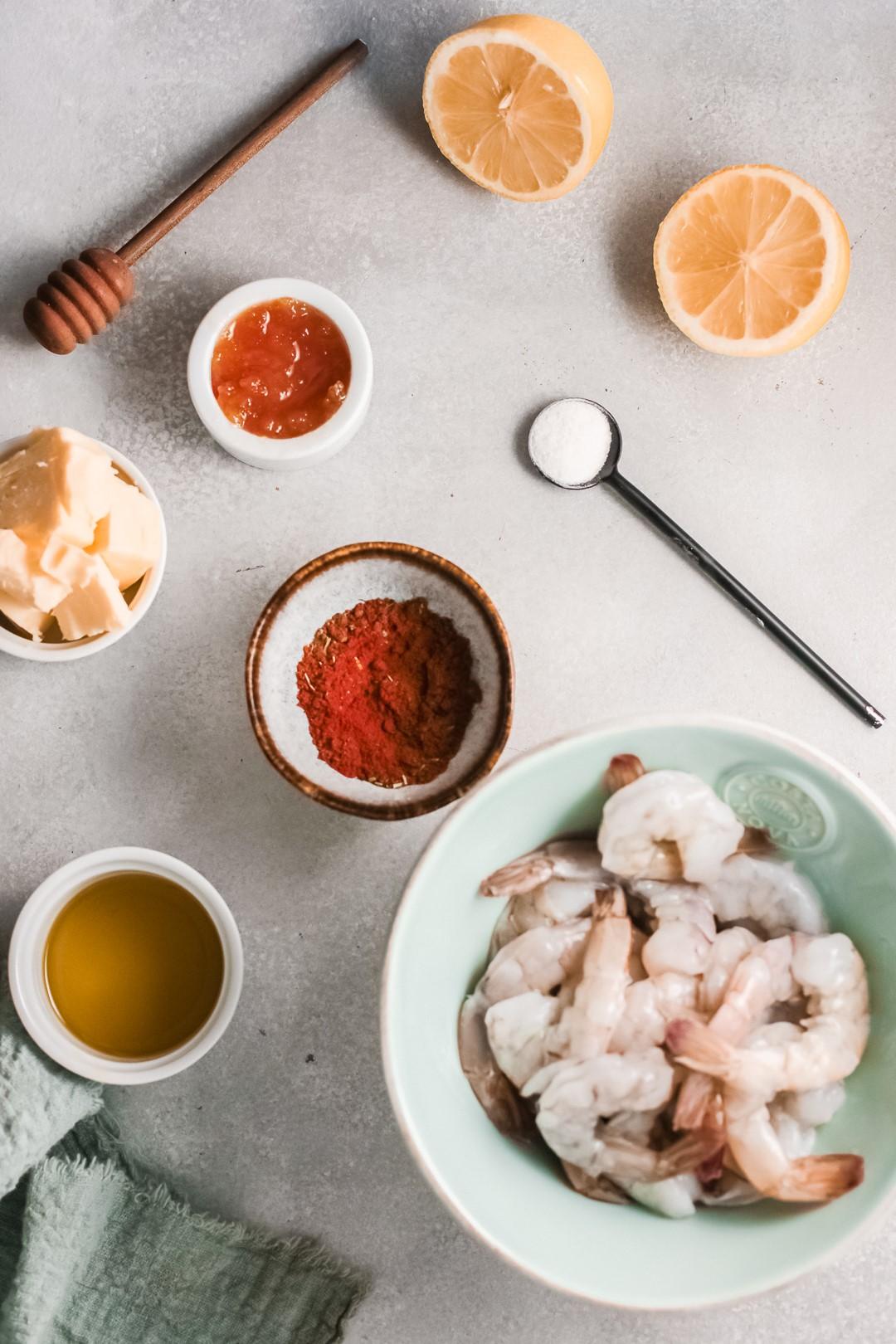 Ingredients for cajun shrimp
