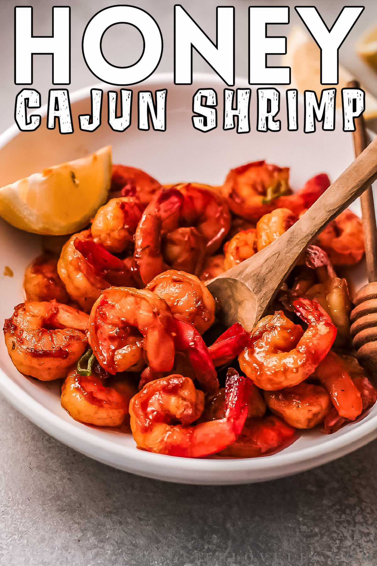 Amazingly flavorful and tender Honey Cajun Shrimp featuring a sweet & spicy sauce. This recipe is so easy to make you won't believe it.