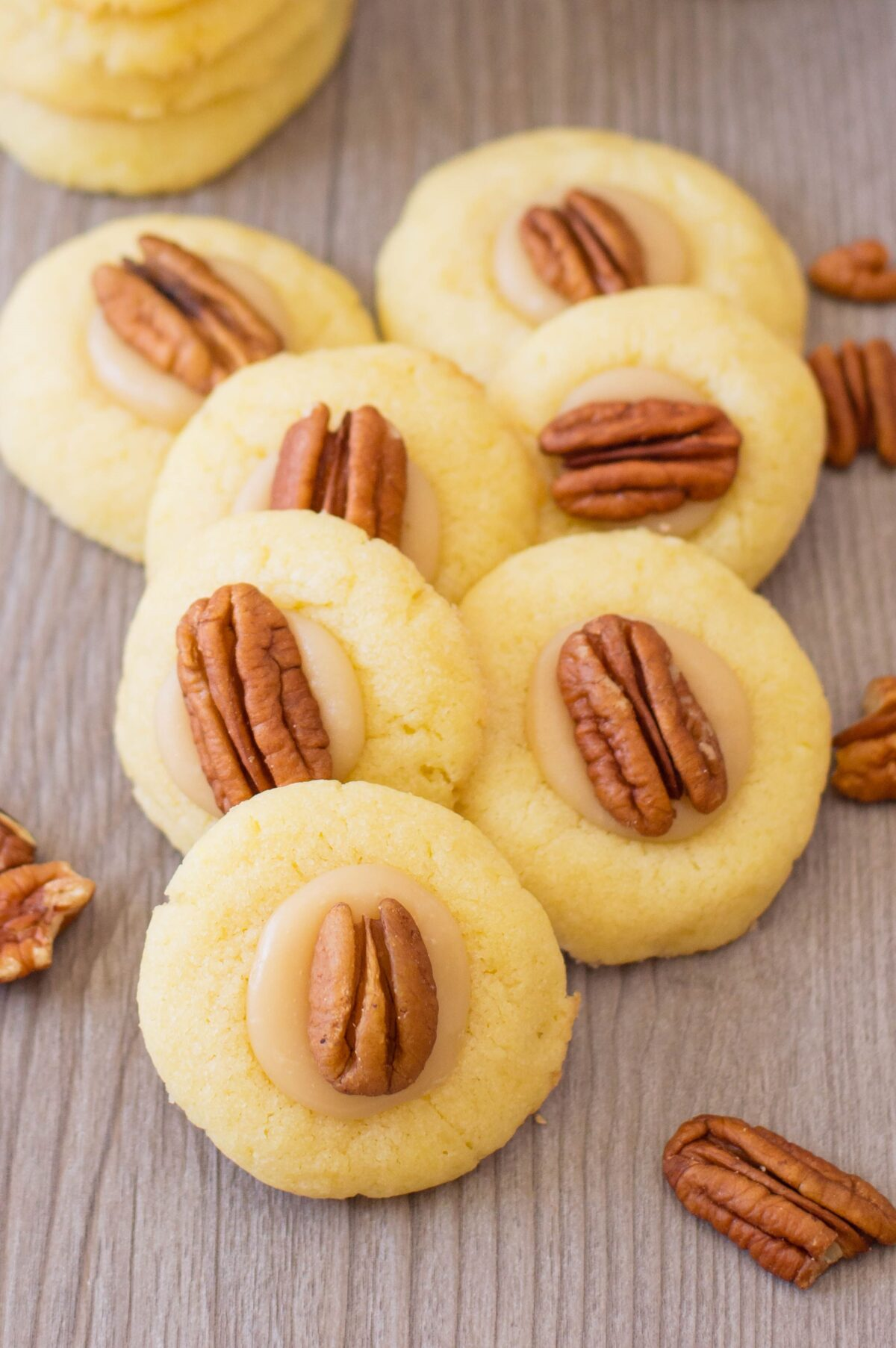 These pecan thumbprint cookies are easy to make and taste wonderful! They're perfect for holiday parties - or any day of the year, really.